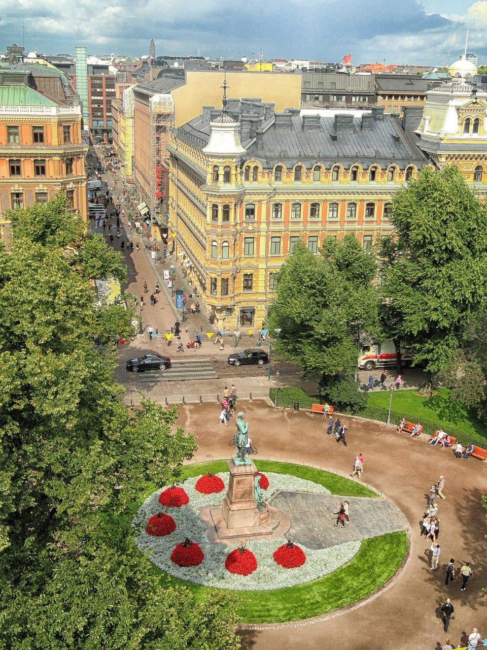 helsinki, finland, plaza