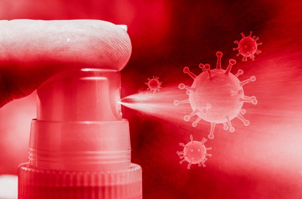 coronavirus, virus, sanitizer